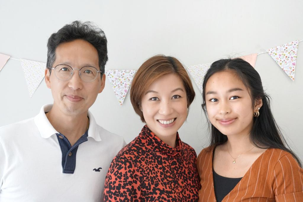 Pastor Cheung with wife Miranda and daughter Ally